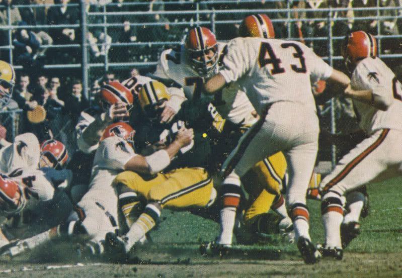 The 1966 Atlanta Falcons Green Bay Packers Game That The Nfl Champion Packers Won 56 3 Atlanta Falcons Atlanta Falcons Art Atlanta Falcons Memes