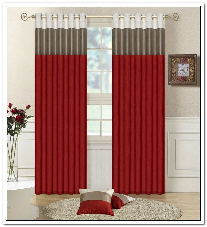 10 Amazing Red And Grey Curtains For Living Room