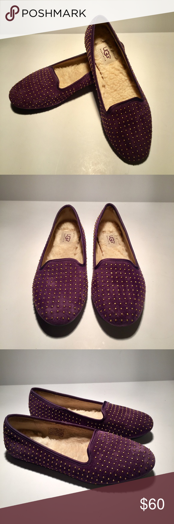 d7a5077485b UGG 'Alloway' Studded Flats Authentic UGG flats in purple suede with ...
