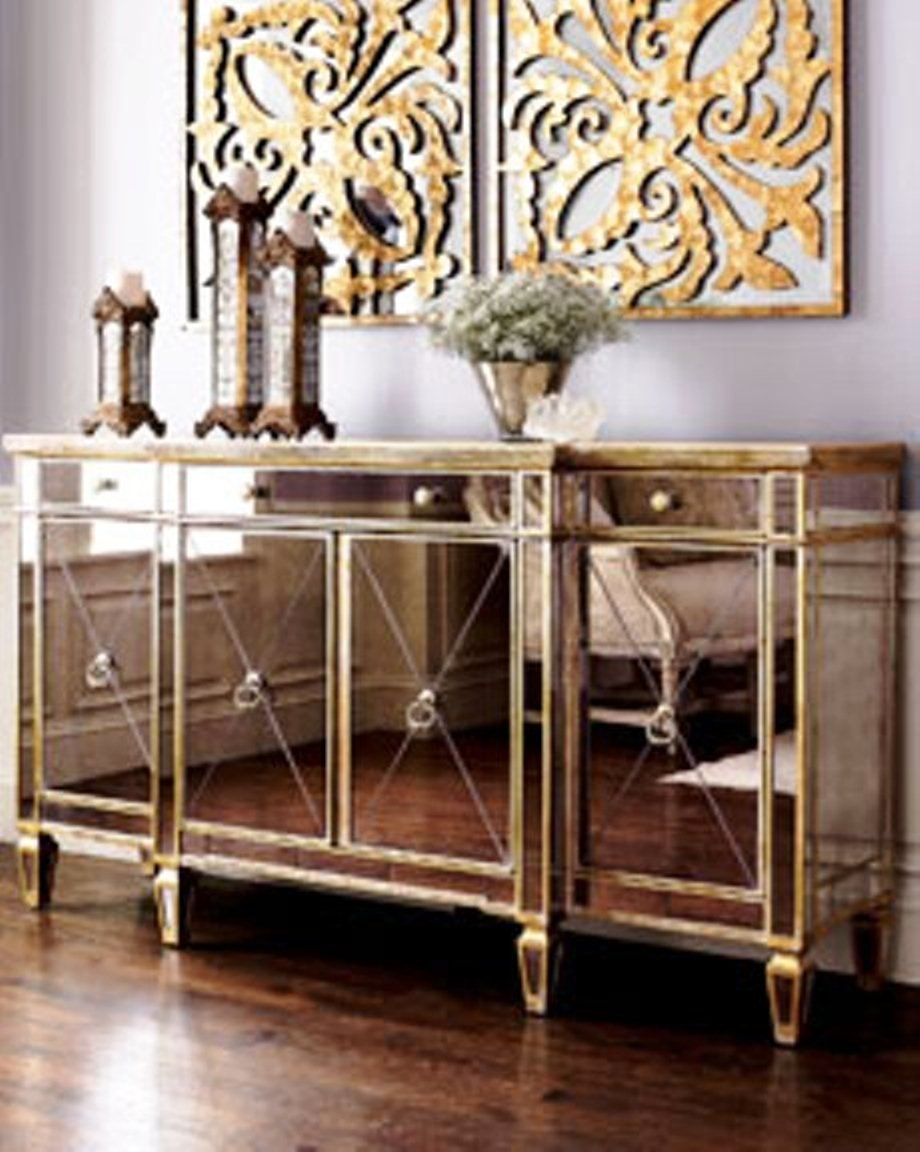 Mirrored Glass Buffet Cabinet Urban Furniture Superstore