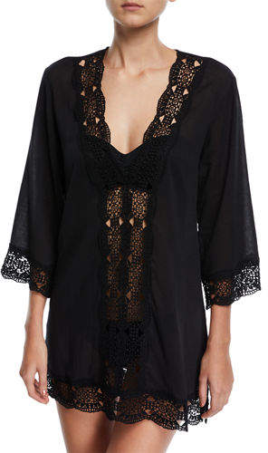 63e95cf3215 La Blanca Embroidered-Inset Tunic Coverup | Products | Tunic, Swim ...