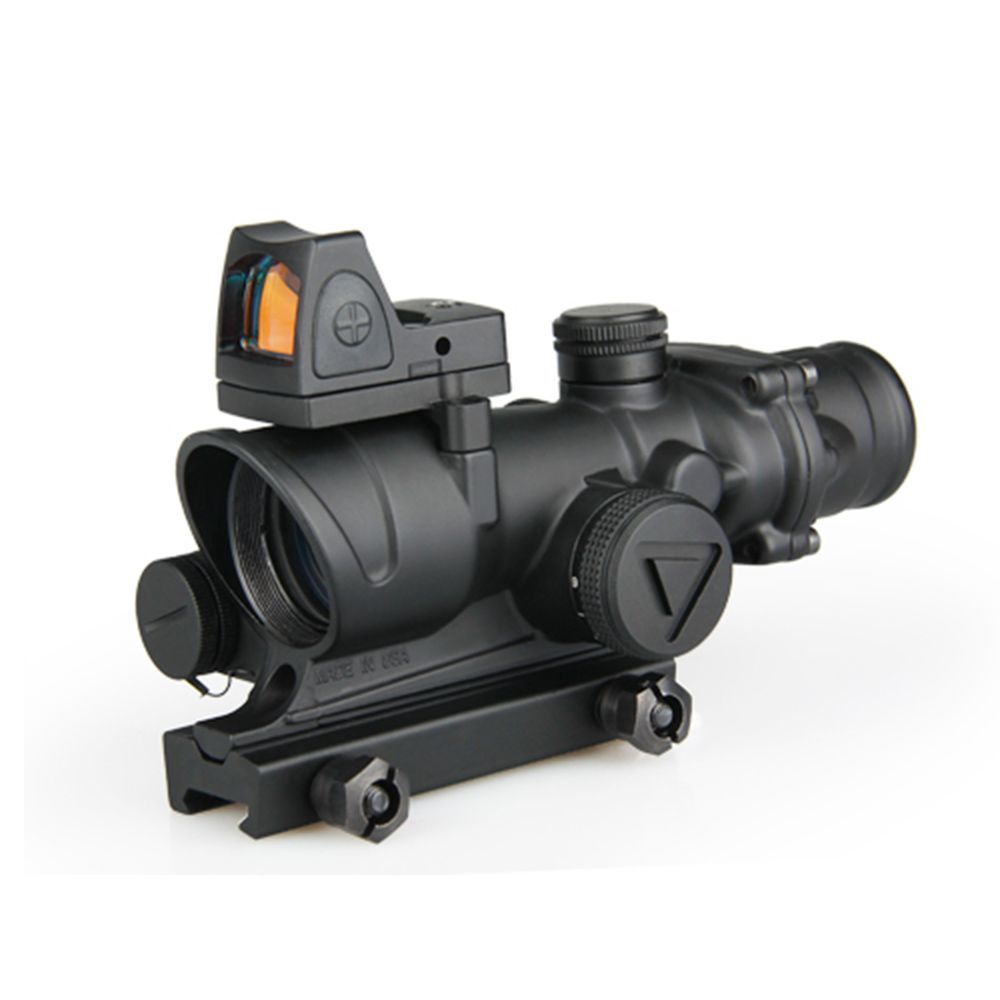 ACOG 4X32 Illuminated Scope with Doctor Red Dot Sight.