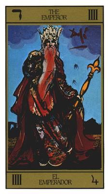 "Salvador Dali, ""The Emperor,"" Salvador Dali's Universal Tarot, 2012. (© U.S. Games Systems, Inc.)"