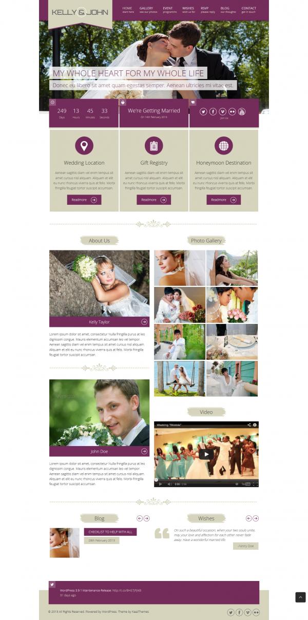 Thiết kế web áo cưới, web ảnh viện Kelly