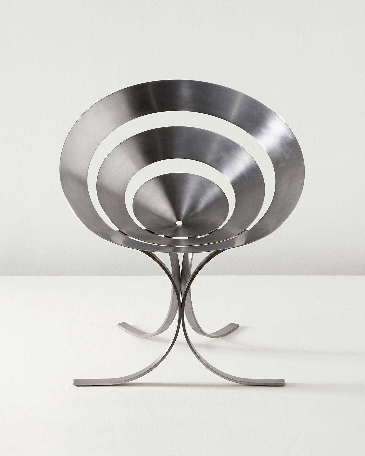 MARIA PERGAY Ring chair circa 1968 Stainless steel Produced by