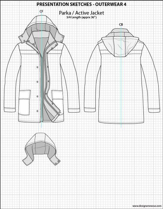 Mens Illustrator Flat Fashion Sketch Templates Presentation Sketches Outerwear Sketch Templates Ideas Of Sketc Mode Design Vorlage Modeskizzen Illustrator