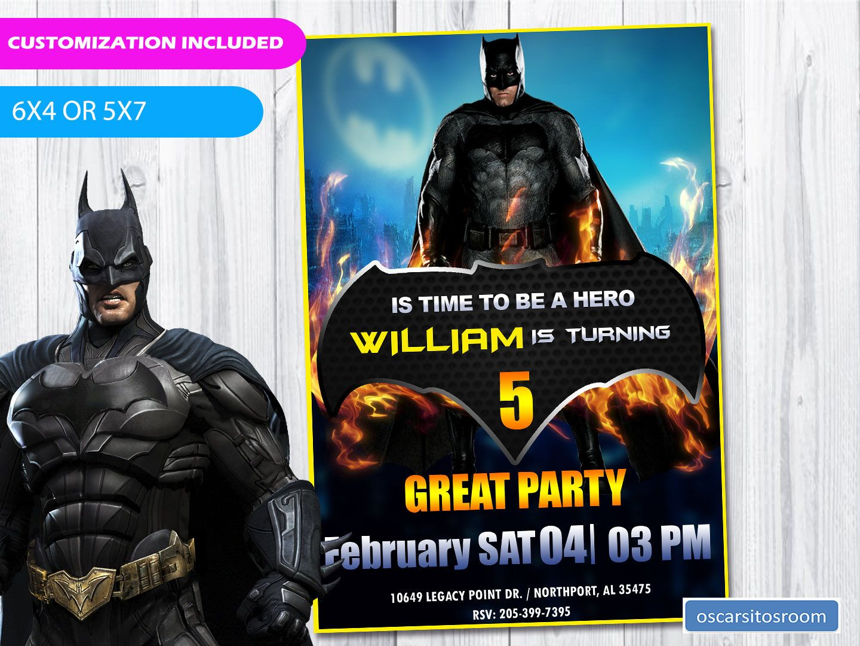 BATMAN BIRTHDAY INVITATION | Batman birthday, Batman invitations and ...