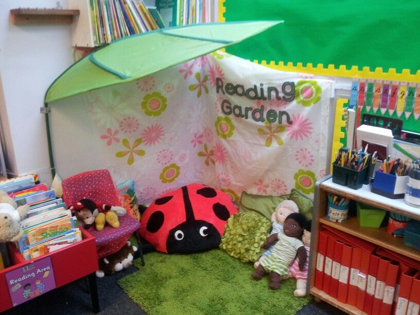 7 Inspiring Kid Room Color Options For Your Little Ones: Book Corner Idea- Reading Garden