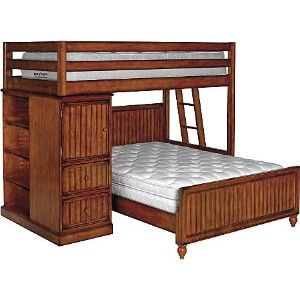 Full Over Queen Bunk Bed Sea Island Pine Twin Over Full Loft Bed