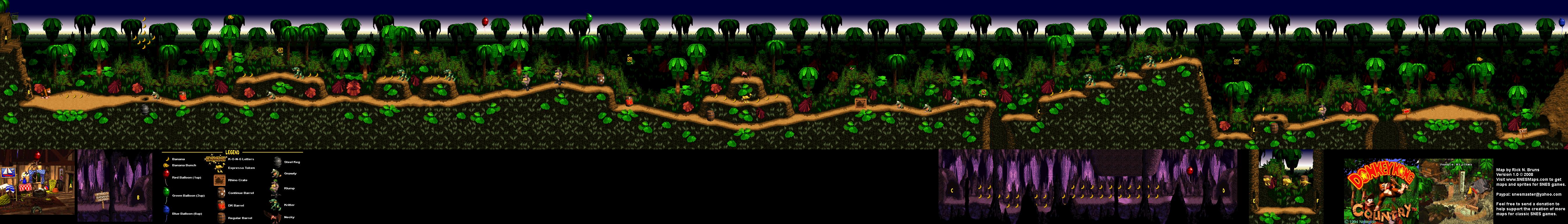 Donkey Kong Country - Level 1 - Jungle Hijinxs - Super Nintendo SNES on