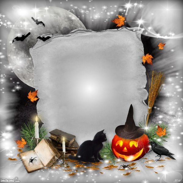 Halloween frame. You can add your own Halloween photo\'s in this ...