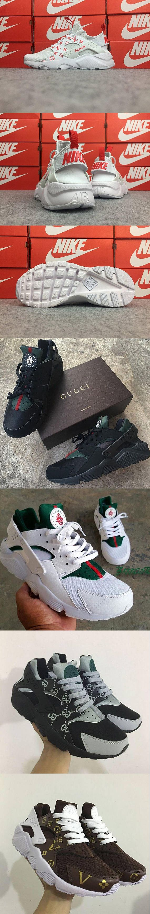 5c04ad8a48d0 Custom Nike Huarache Sneakers Hand Painted Embroidered Shoes Gucci Louis  Vuitton Supreme Bape Champion