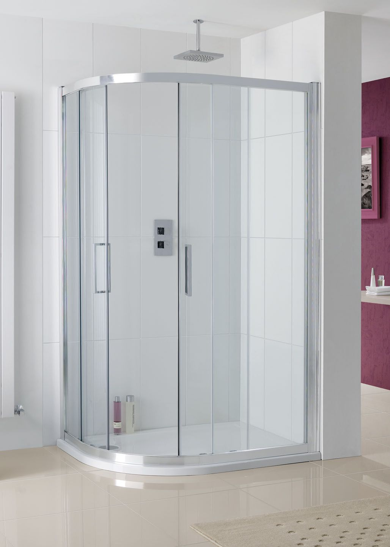 Valmiera Offset Quadrant Corner Shower Enclos › Lakes Bathrooms ...