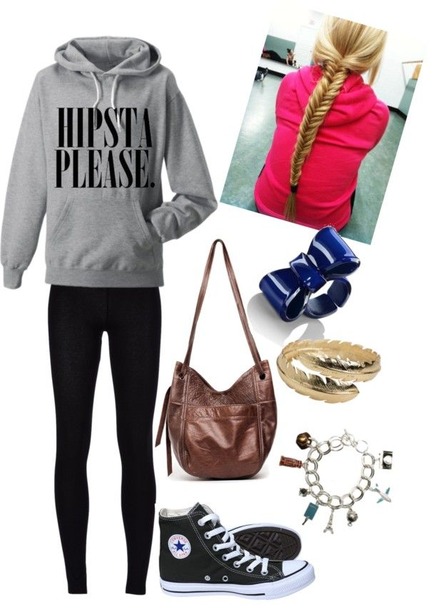 """Lazy School Outfit"" by eeyoreluvsemma ❤ liked on Polyvore"
