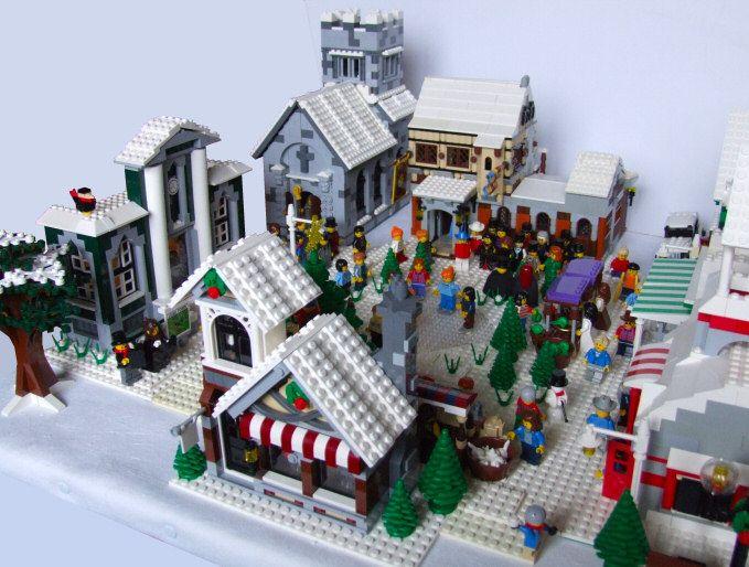 Moc Winter Village Lego Town Lego Winter Lego Christmas Village Lego Christmas