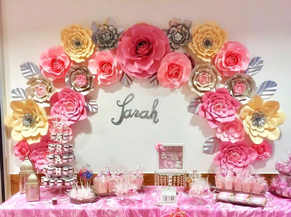Make Your Own Paper Flower Backdrop For Your Dessert Table