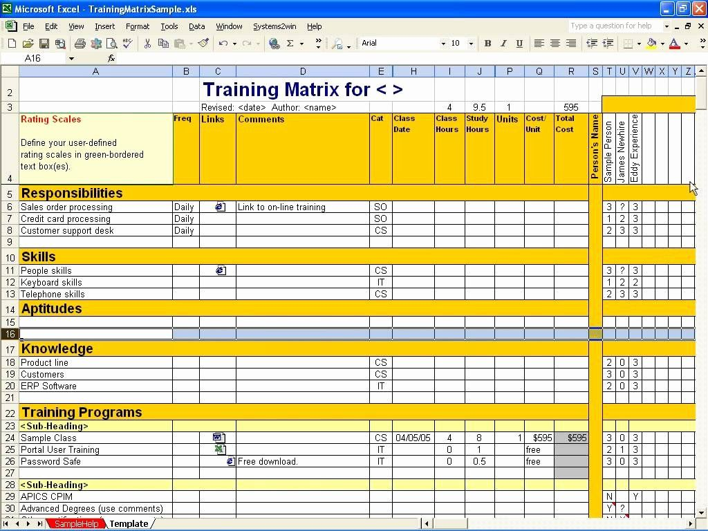 Excel Class Schedule Template Fresh Employee Training Matrix Template Excel Task List Templates Employee Training Class Schedule Template Excel Training matrix template excel free download