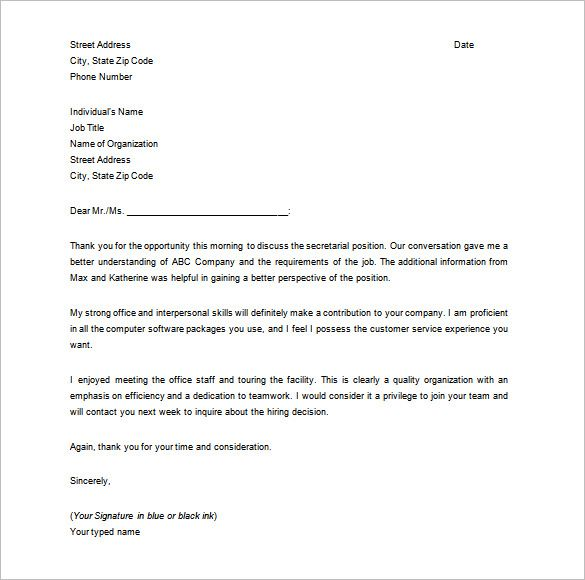 Thank You Letter For Interview Basic Guides How Write Resume Teacher