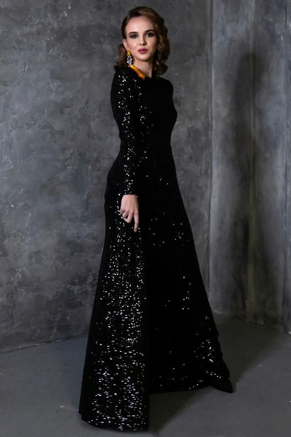 28+ Black floor length dress ideas