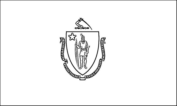 Massachusetts Flag Coloring Page Purple Kitty Flag Coloring