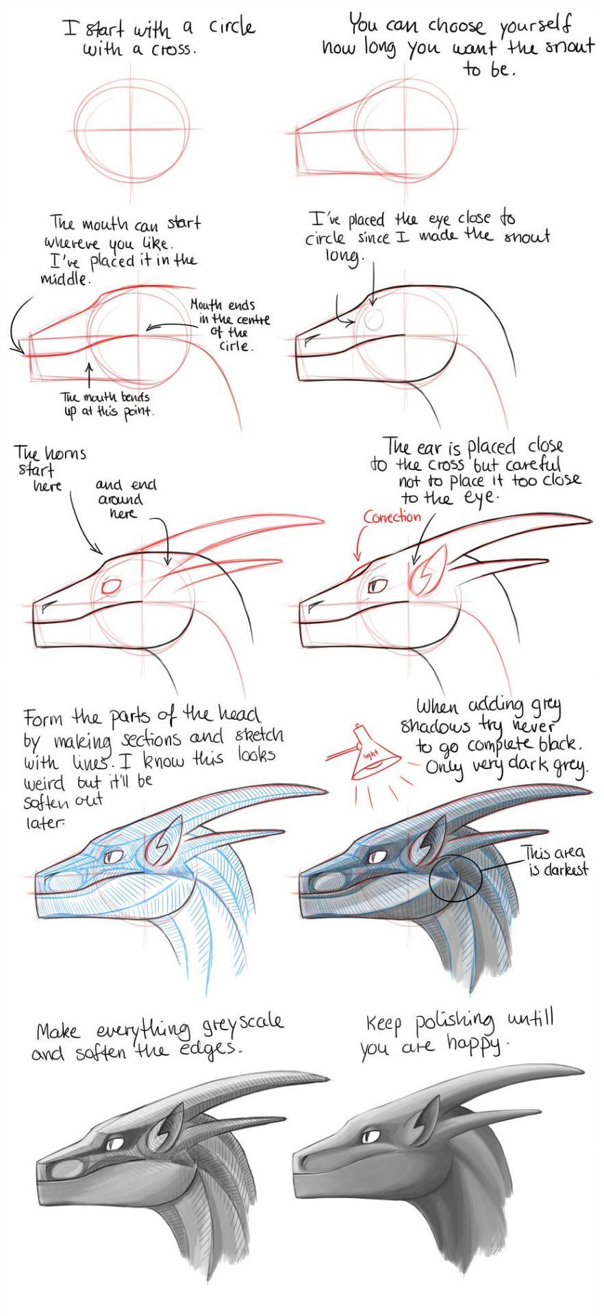 Anatoref Dragon Sketch Dragon Head Drawing Concept Art Drawing