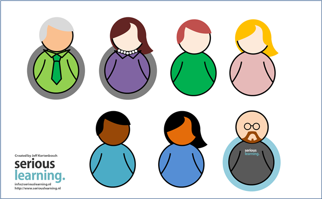 Friday Freebie: Illustrated Characters by @elearningjeff - E-Learning Heroes