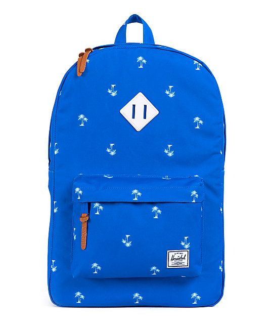 7ec3d5a96ba With the Herschel Supply Heritage resort and white rubber 21L backpack you  get a dependable pack with stand out looks. Grab the blue colorway with an  ...