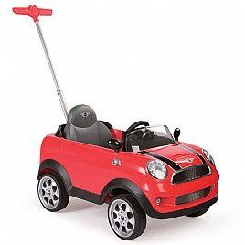 מכונית מיני קופר לילדים כולל מוט דחיפה Mini Cooper S Push Car