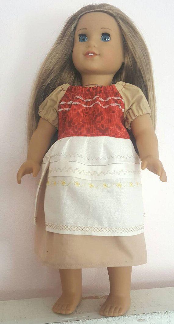 """18"""" Moana Doll Dress Inspired by Disney's Moana Dress"""
