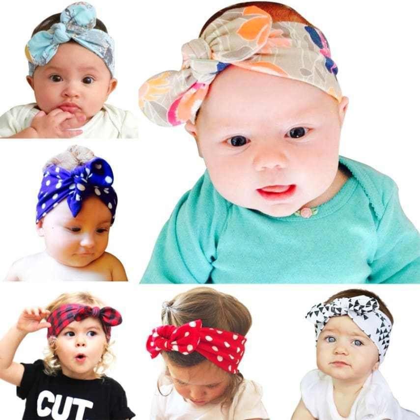 Sweet Kids Girls Baby Headband Toddler Bow Cloth Hair Band Accessories Headwear