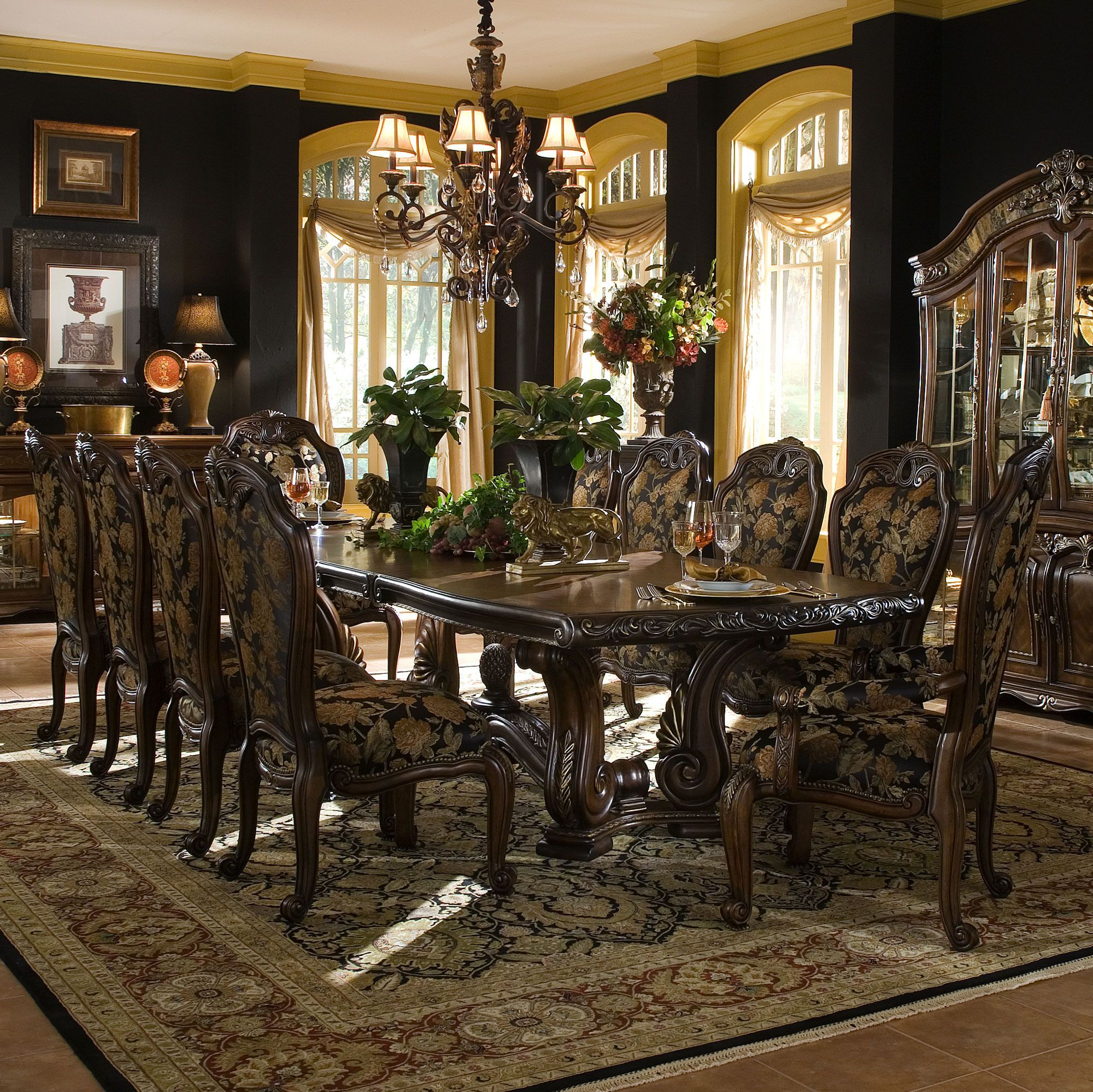 Room Store Dining Room Sets: Oppulente Rectangular Table Dining Room Set