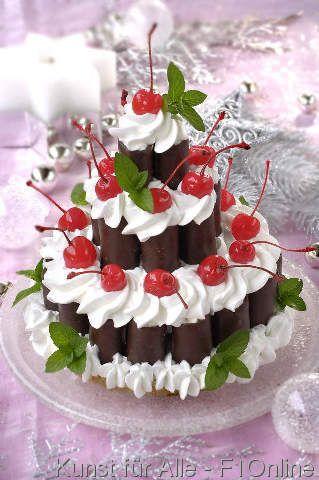 Kuchen mit sauren kirschen