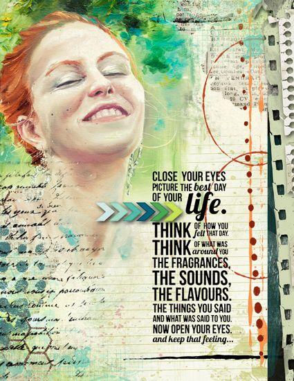 Art Journaling - Close Your Eyes - Scrap Art Studio Gallery
