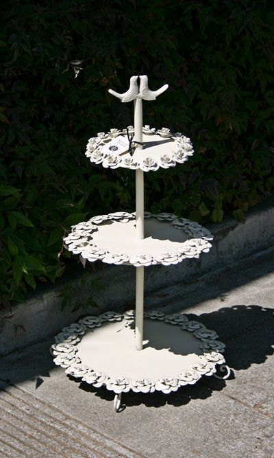 Camden Mill Roses Tiered Center Piece - Original: $125 Sale: $62