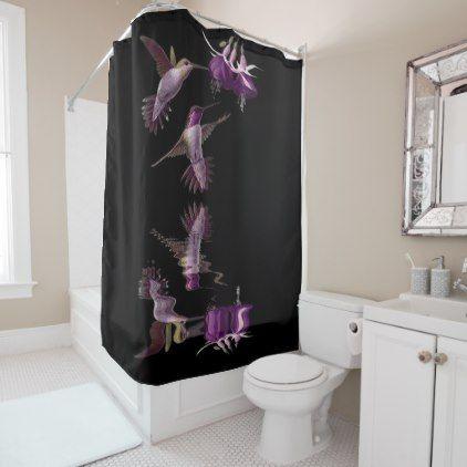 Dance Of The Hummingbird Shower Curtain   Shower Curtains Home Decor Custom  Idea Personalize Bathroom