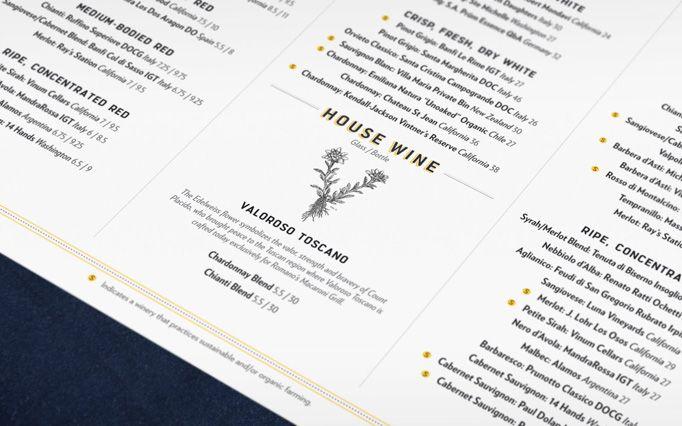 Romanos Macaroni Grill | menu design | Restaurant menu