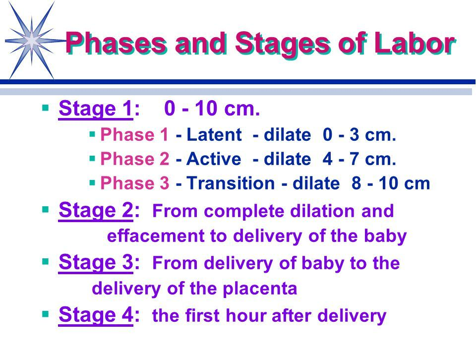 1 And Labor Birth Stage