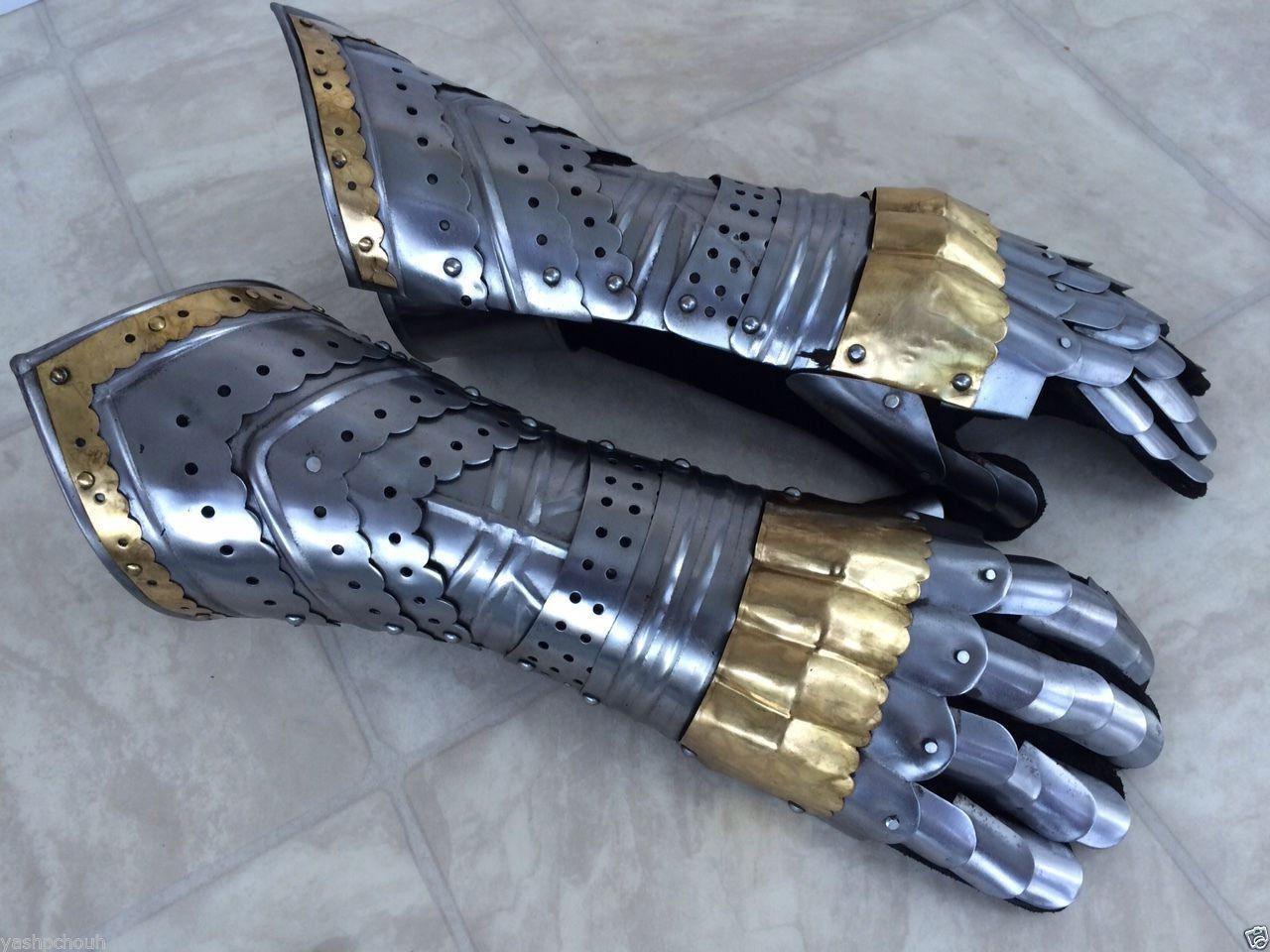 Nauticalmart medieval gauntlets gloves armor handguard