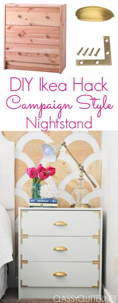 diy nightstand campaign style nightstand ikea rast hack