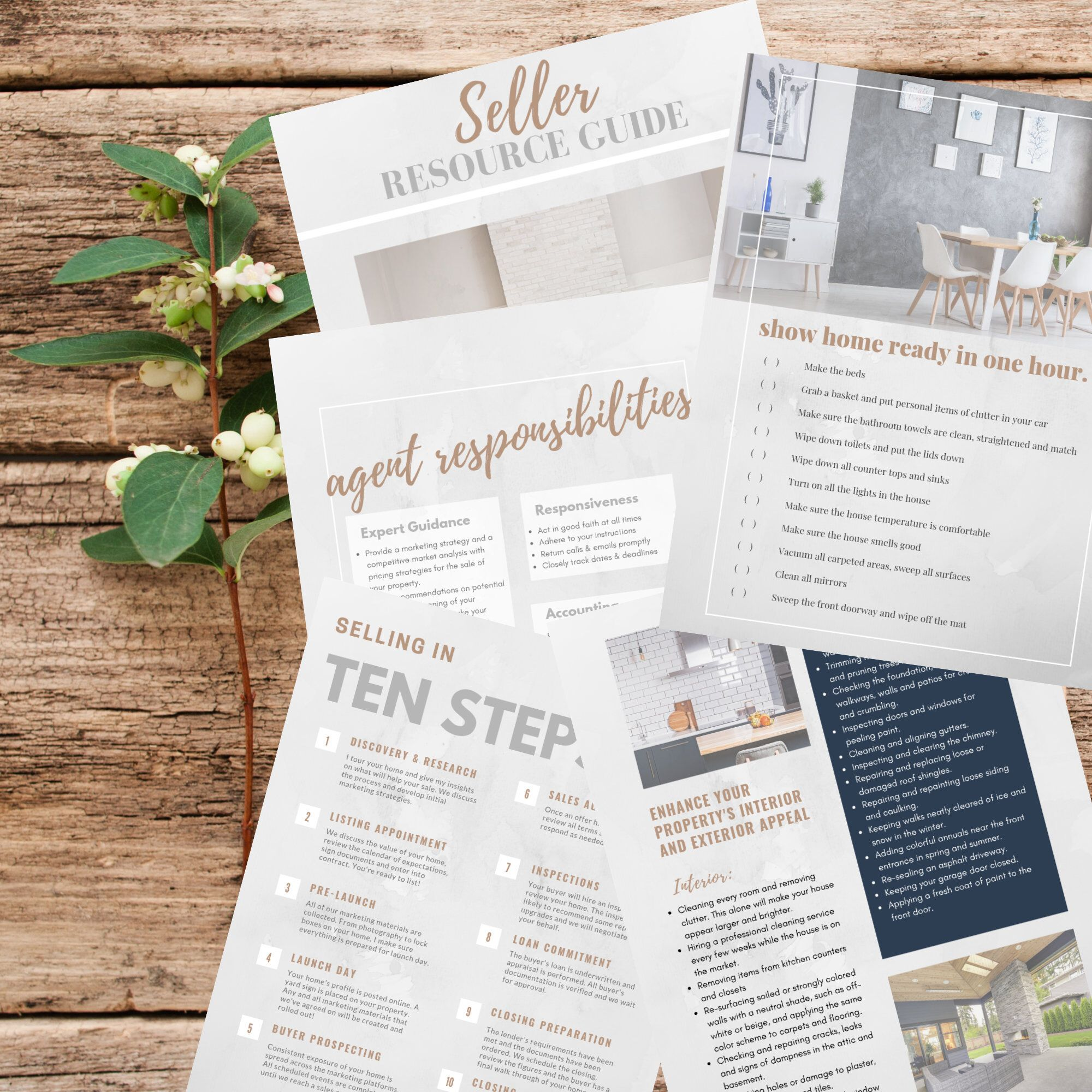 Excited to share this item from my #etsy shop: Real Estate Seller Guide | Instant Download PDF | Realtor Tools | Real Estate Marketing | Listing Presentation | Canva Editable