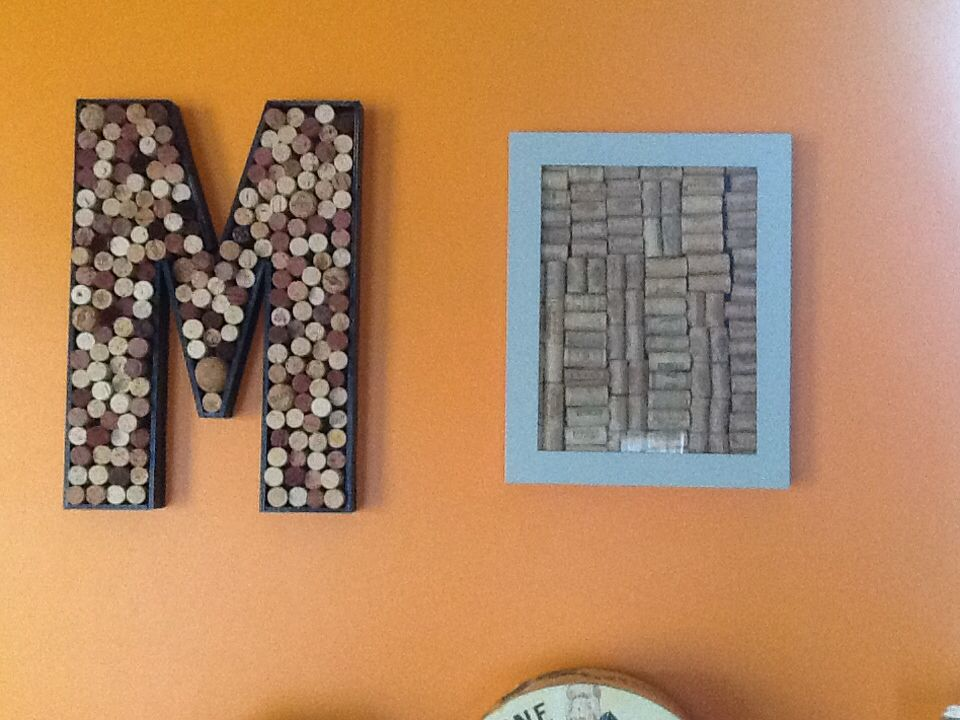 Wine Corks And Shadow Box Letter From Hobby Lobby Added Sides And Corks Box From Michaels Added Paint And Corks Hobby Lobby Add Shadow Box Wine Cork