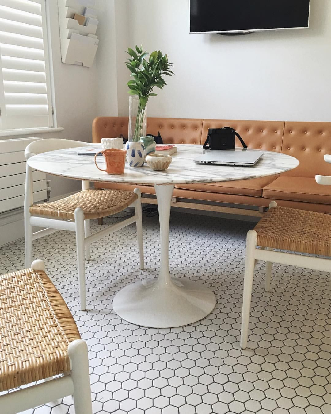 Love The Marble Tabletop And Tile!! Estée Lalonde On Instagram: U201cGood  Morning