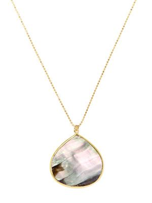 Soixante Neuf Mother Of Pearl Pendant Necklace