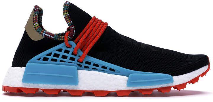 Pharrell Wears Light Blue adidas NMD Human Race