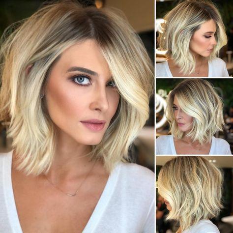 Haircut Capelli Medi Biondi 46 Ideas For 2019 Biondi Capelli Haircut Ideas Medi Coupe De Cheveux Coiffures Cheveux Blonds Cheveux