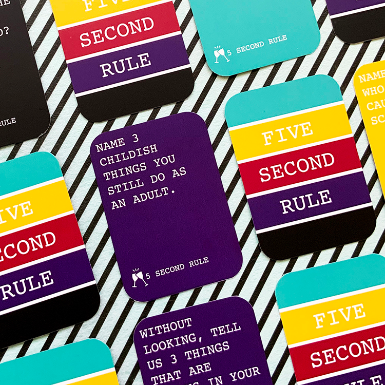 5 Second Rule Card Game The Craftables Card Games Games Family Games To Play
