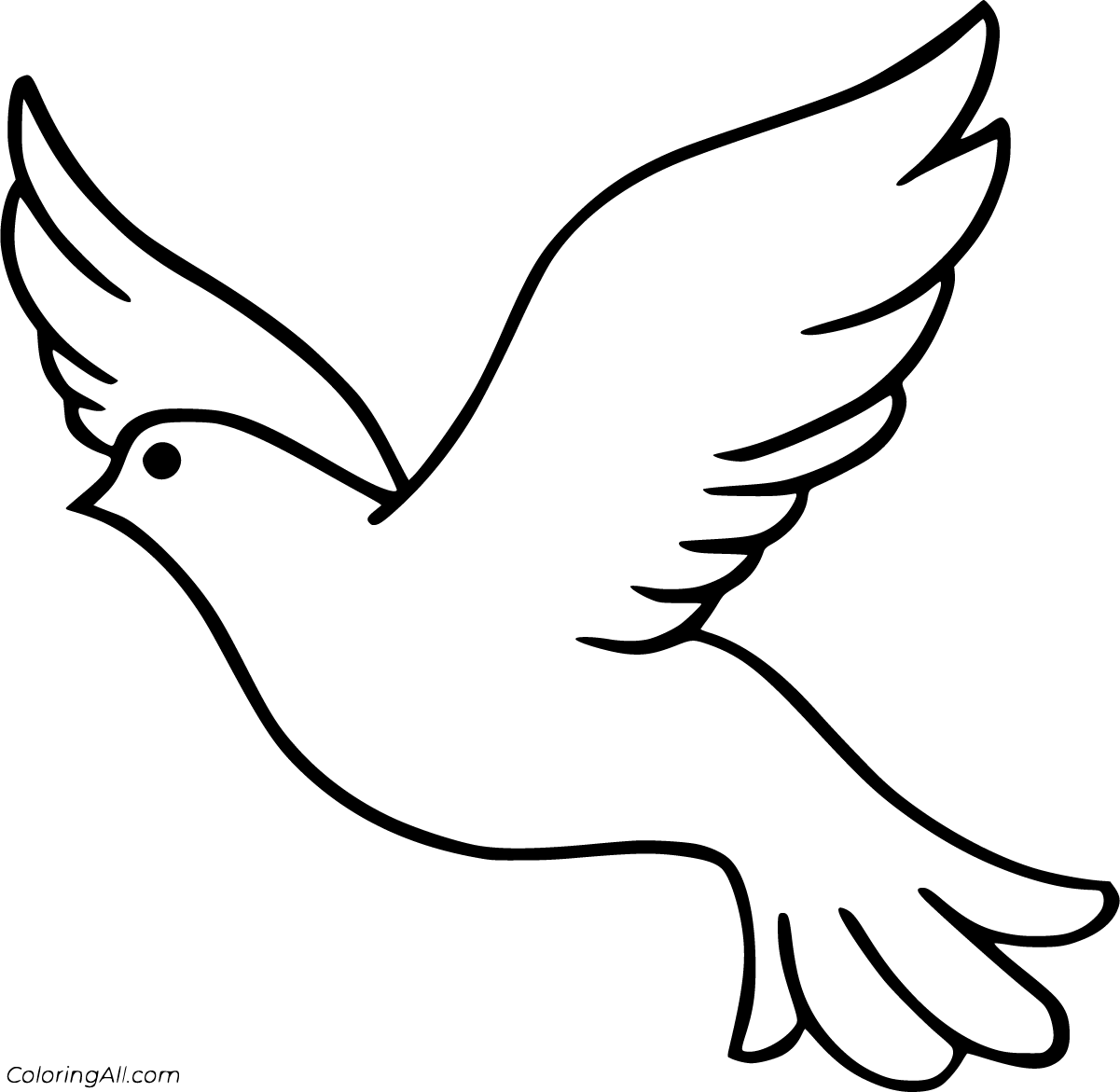28 Free Printable Dove Coloring Pages In Vector Format Easy To Print From Any Device And Automatically Fit Any Bird Coloring Pages Coloring Pages Bird Outline