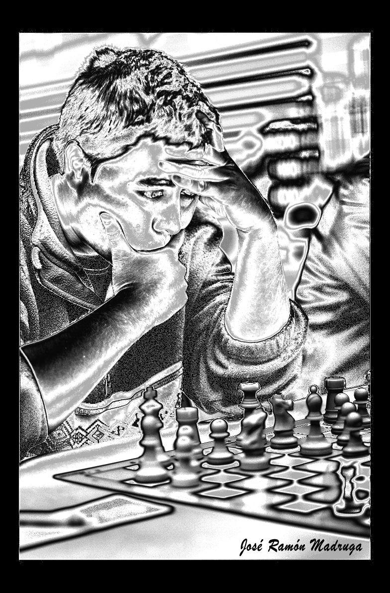 Radiografía de un jugador de ajedrez. Pseudo-Solarización Digital