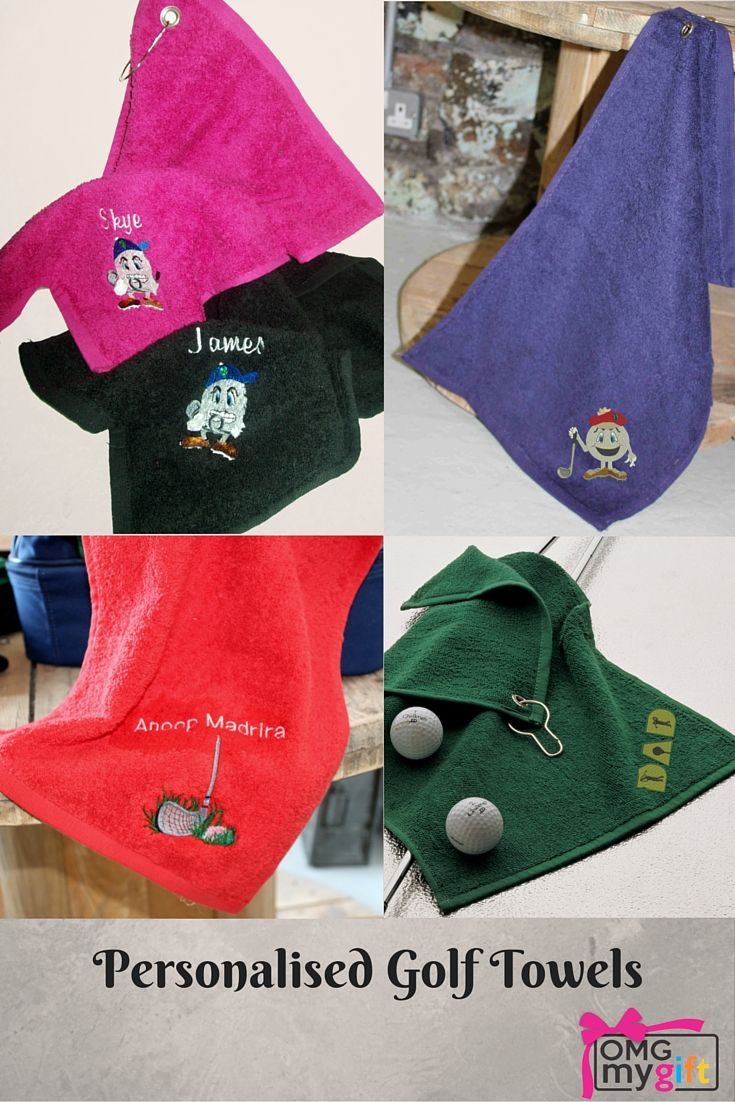 The Perfect Golfer S Gift Personalised Golf Towels Available In A Range Of Colours An