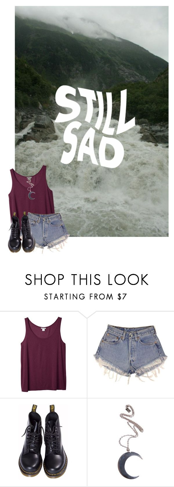 """c is for cute guys i cant get over"" by ghxstly ❤ liked on Polyvore featuring Monki, Levi's, Dr. Martens and Kill Star"